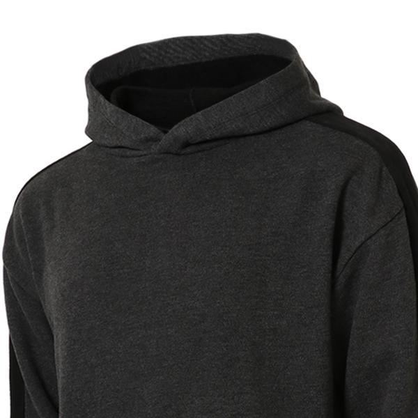【即納】エンコーデッド ENCODED メンズ パーカー トップス フーディー フード Oversized line hoodie Charcoal GREY|fermart|04