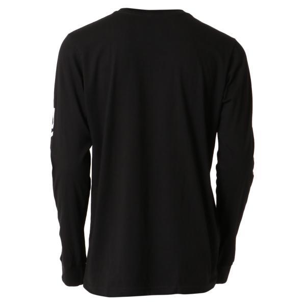 【即納】ルーカ RVCA メンズ 長袖Tシャツ トップス Big Rvca L/S BLACK ロンT ロングT 袖プリント ビッグロゴ|fermart|02