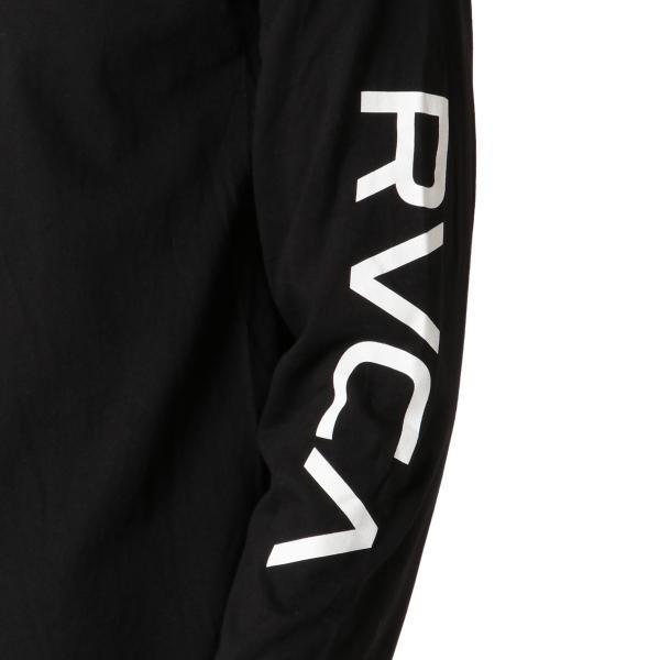 【即納】ルーカ RVCA メンズ 長袖Tシャツ トップス Big Rvca L/S BLACK ロンT ロングT 袖プリント ビッグロゴ|fermart|06