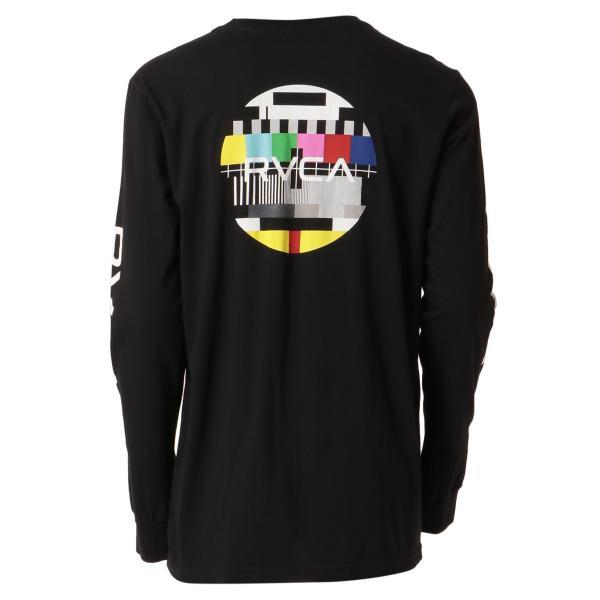 【即納】ルーカ RVCA メンズ 長袖Tシャツ トップス Testing L/S BLACK ロンT ロングT ビッグロゴ バックプリント|fermart|02