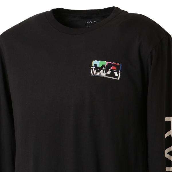 【即納】ルーカ RVCA メンズ 長袖Tシャツ トップス Testing L/S BLACK ロンT ロングT ビッグロゴ バックプリント|fermart|07
