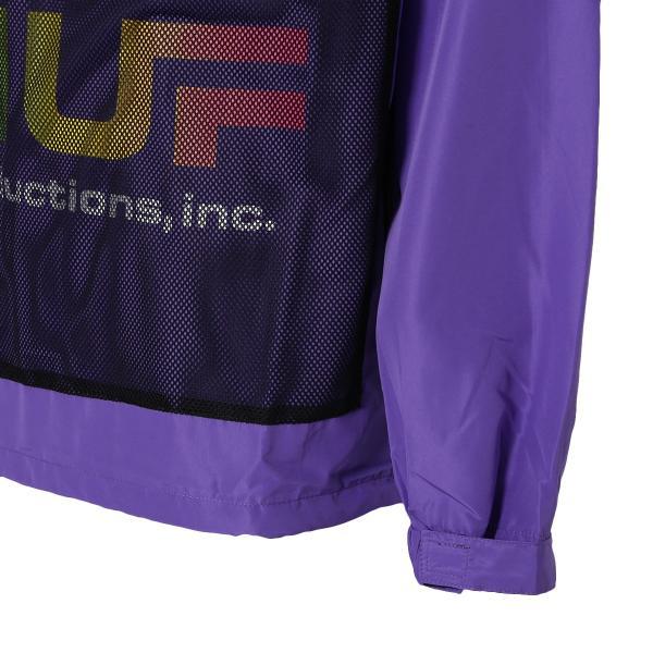 【即納】ハフ HUF メンズ ジャケット アウター アノラック HUF PRODUCTIONS INC ANORAK ULTRA VIOLET fermart 05