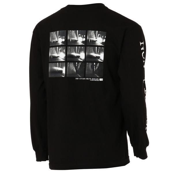 【即納】ハフ HUF メンズ 長袖Tシャツ トップス ロンT ロングT ロングスリーブ REAL NON-FICTION L/S TEE BLACK fermart 02