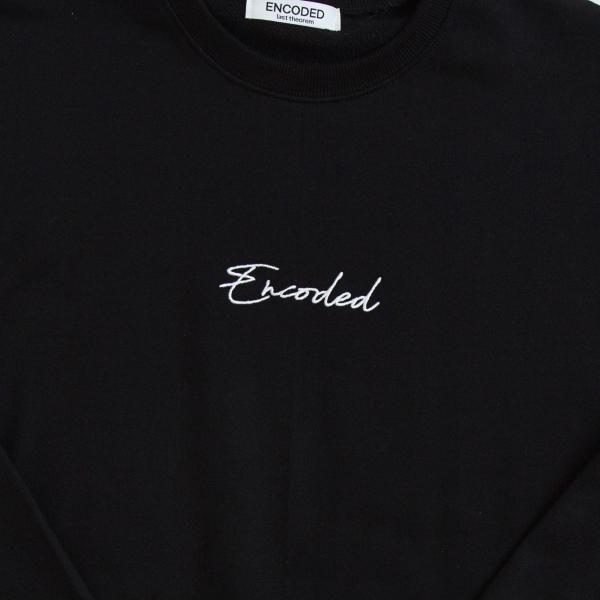 【即納】エンコーデッド ENCODED メンズ スウェット・トレーナー トップス ENBROIDERY LOGO SWEAT PO black fermart 03