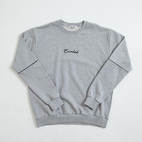 【即納】エンコーデッド ENCODED メンズ スウェット・トレーナー トップス ENBROIDERY LOGO SWEAT PO gray fermart