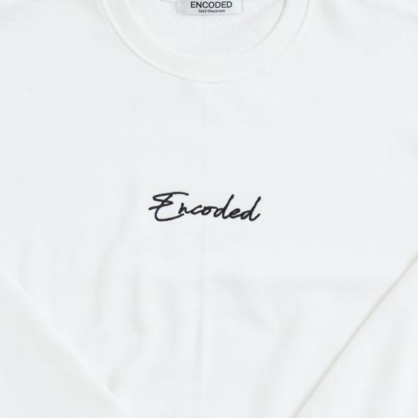 【即納】エンコーデッド ENCODED メンズ スウェット・トレーナー トップス ENBROIDERY LOGO SWEAT PO white|fermart|03