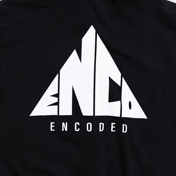 【即納】エンコーデッド ENCODED メンズ パーカー トップス フーディー フード TRIANGLE EMBLEM FZ HOODIE black fermart 03