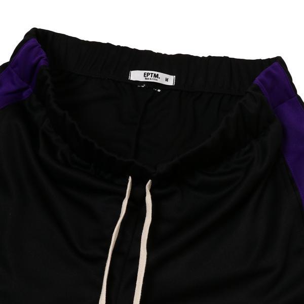 【即納】エピトミ EPTM メンズ スウェット・ジャージ ボトムス・パンツ TRACK PANTS BLACK/PURPLE トラックパンツ 裾ジップ サイドライン fermart 03