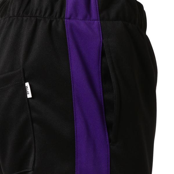 【即納】エピトミ EPTM メンズ スウェット・ジャージ ボトムス・パンツ TRACK PANTS BLACK/PURPLE トラックパンツ 裾ジップ サイドライン fermart 05