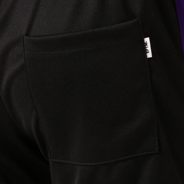 【即納】エピトミ EPTM メンズ スウェット・ジャージ ボトムス・パンツ TRACK PANTS BLACK/PURPLE トラックパンツ 裾ジップ サイドライン fermart 06
