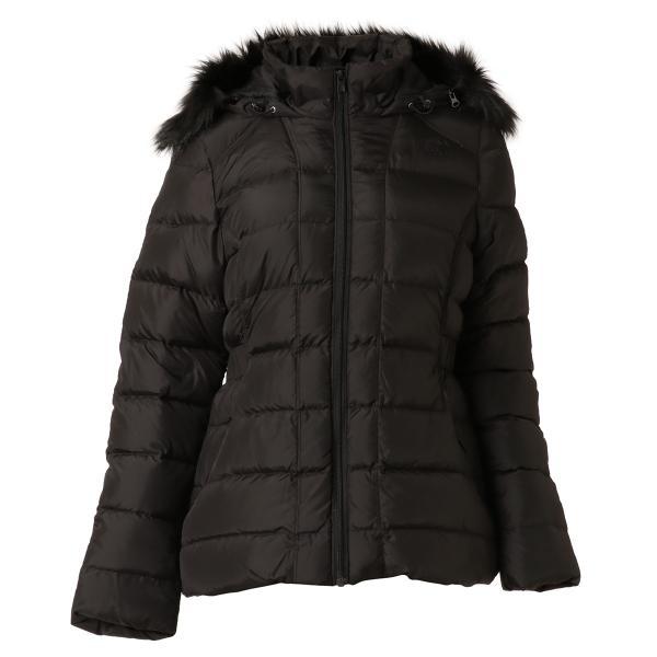 【即納】ザ ノースフェイス The North Face レディース ダウン・中綿ジャケット アウター Gotham Jacket BLACK フードファー ゴッサム キルティング|fermart