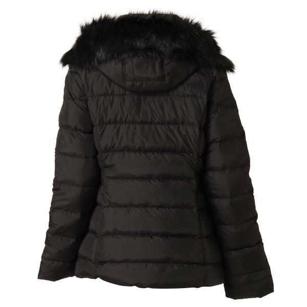 【即納】ザ ノースフェイス The North Face レディース ダウン・中綿ジャケット アウター Gotham Jacket BLACK フードファー ゴッサム キルティング|fermart|02