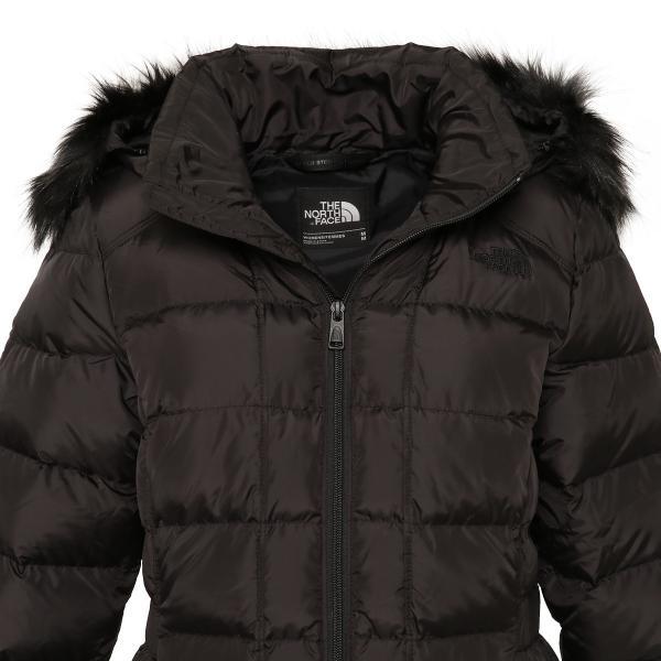 【即納】ザ ノースフェイス The North Face レディース ダウン・中綿ジャケット アウター Gotham Jacket BLACK フードファー ゴッサム キルティング|fermart|03