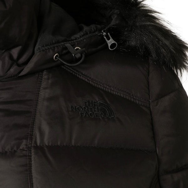 【即納】ザ ノースフェイス The North Face レディース ダウン・中綿ジャケット アウター Gotham Jacket BLACK フードファー ゴッサム キルティング|fermart|04