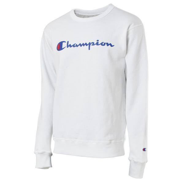 【即納】チャンピオン Champion メンズ スウェット・トレーナー トップス 裏起毛 クルーネック ロゴ USAモデル Graphic Powerblend Fleece Crew WHITE|fermart