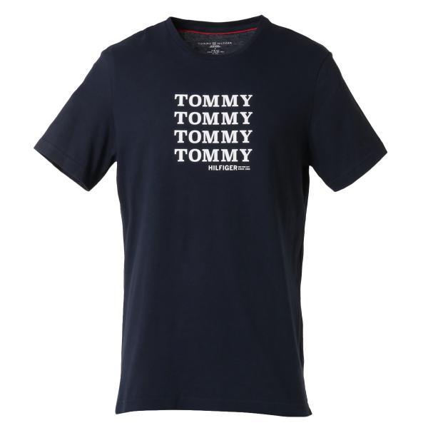 【即納】トミー ヒルフィガー Tommy Hilfiger メンズ Tシャツ トップス CREW TEE DARK NAVY ロゴ クルーネック fermart