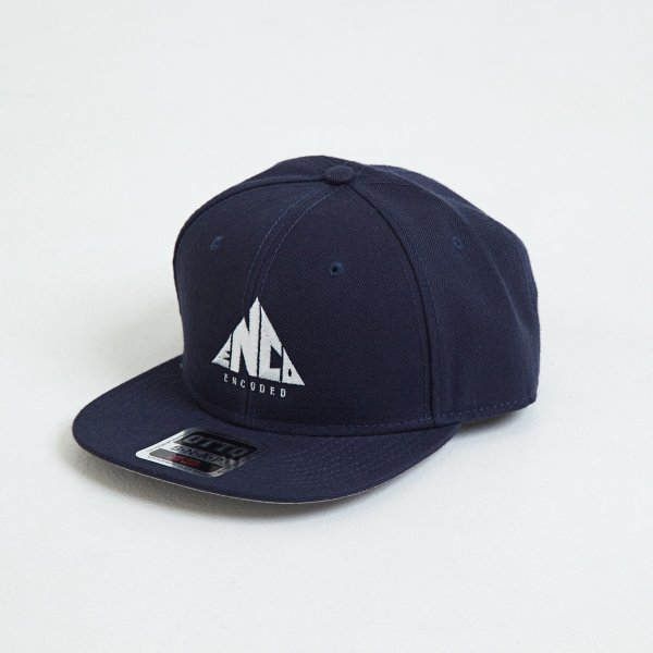 【即納】エンコーデッド ENCODED メンズ キャップ 帽子 TRIANGLE BASEBALL CAP navy fermart