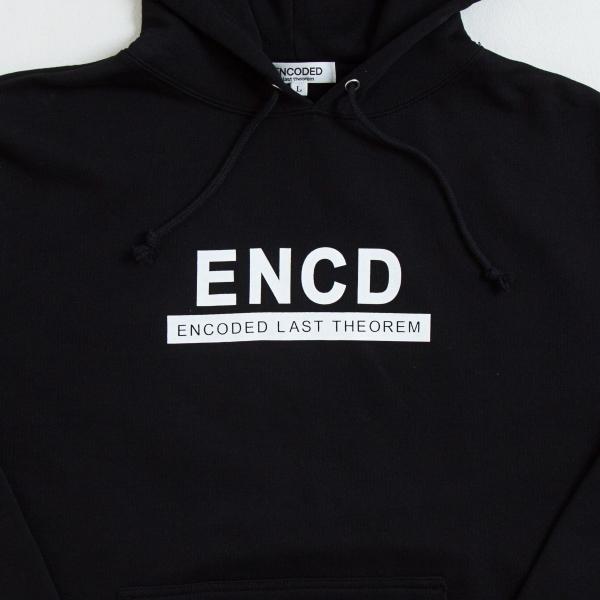 【即納】エンコーデッド ENCODED メンズ パーカー トップス フーディー フード ENCD BASIC PO HOODIE black|fermart|03
