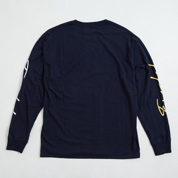 【即納】エンコーデッド ENCODED メンズ 長袖Tシャツ トップス ロンT ロングT ロングスリーブ ASYMMETRY C BODY L/S TEE navy|fermart|02
