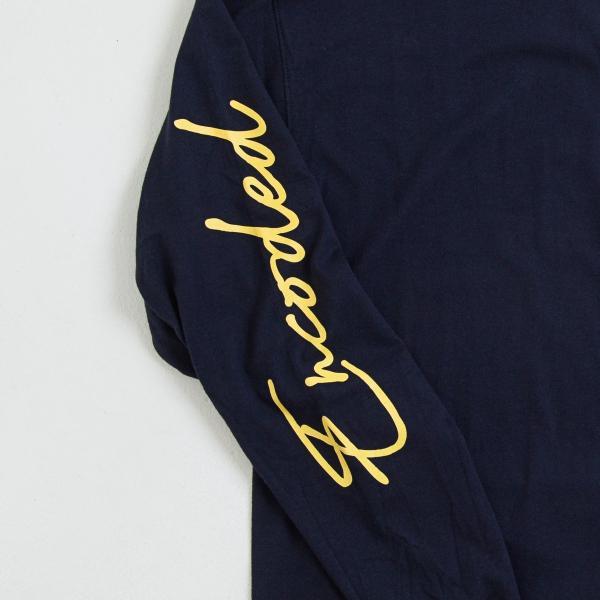 【即納】エンコーデッド ENCODED メンズ 長袖Tシャツ トップス ロンT ロングT ロングスリーブ ASYMMETRY C BODY L/S TEE navy|fermart|03