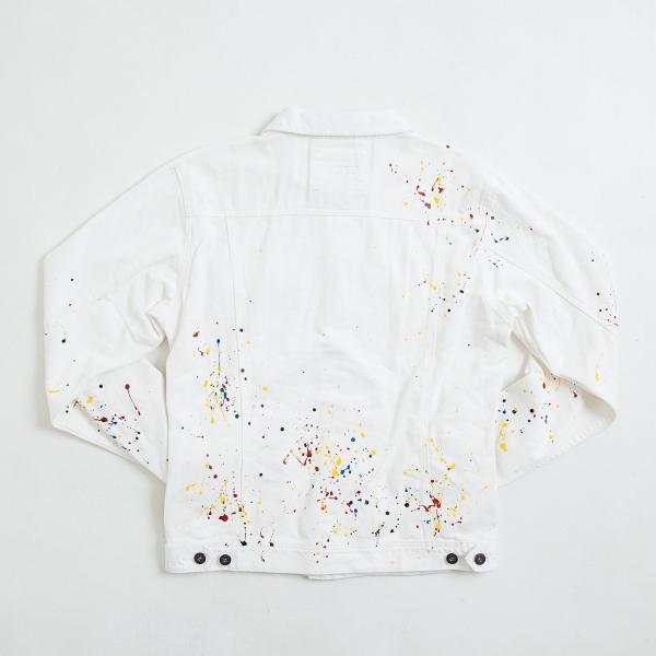 【即納】エンコーデッド ENCODED メンズ ジャケット アウター DROP PAINT DENIM JACKET white fermart 02