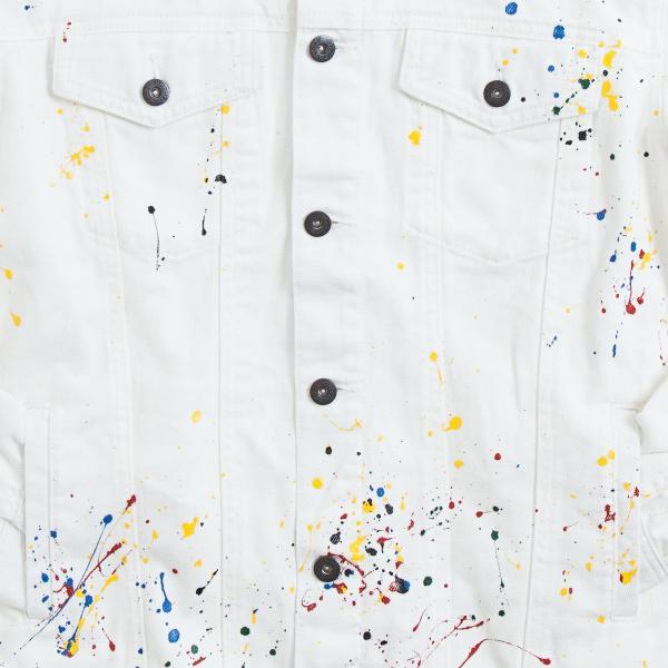 【即納】エンコーデッド ENCODED メンズ ジャケット アウター DROP PAINT DENIM JACKET white fermart 03