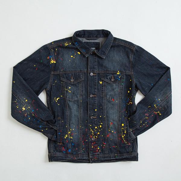 【即納】エンコーデッド ENCODED メンズ ジャケット アウター DROP PAINT DENIM JACKET navy|fermart