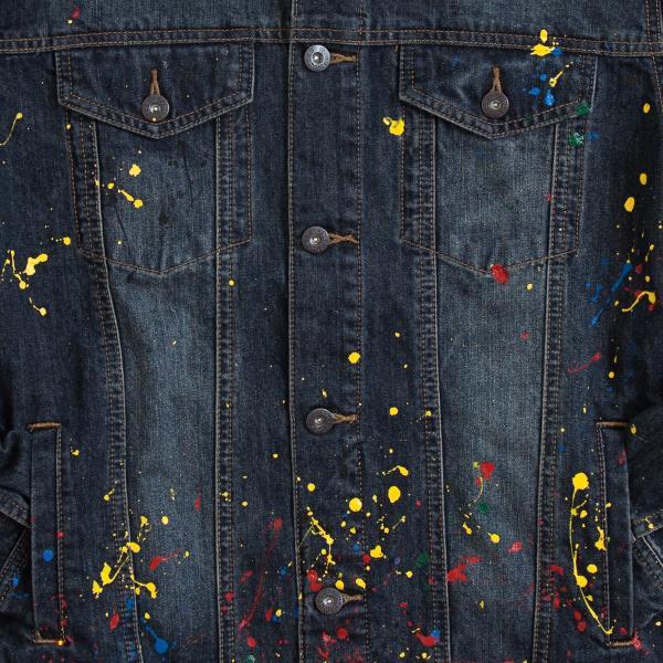 【即納】エンコーデッド ENCODED メンズ ジャケット アウター DROP PAINT DENIM JACKET navy|fermart|03