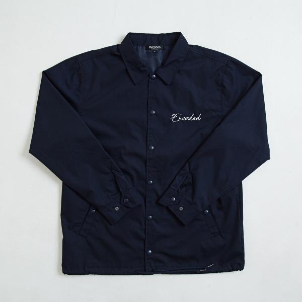 【即納】エンコーデッド ENCODED メンズ ジャケット アウター TRIANGLE EMBLEM COACH JACKET navy|fermart
