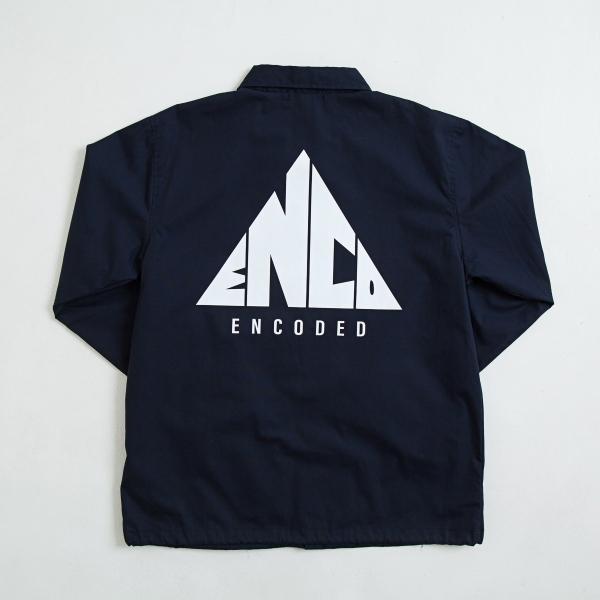 【即納】エンコーデッド ENCODED メンズ ジャケット アウター TRIANGLE EMBLEM COACH JACKET navy|fermart|02