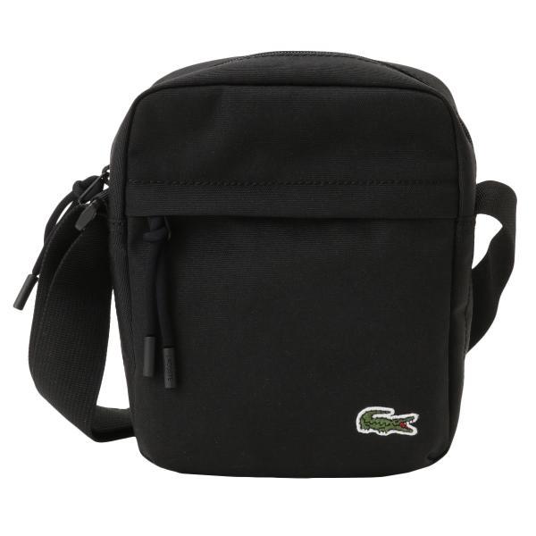 【即納】ラコステ Lacoste ユニセックス ショルダーバッグ バッグ Neocroc Camera Bag 991 black ミニショルダー カメラバッグ ネオクロック 斜め掛け|fermart