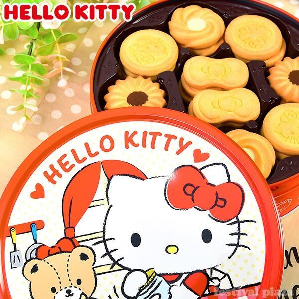 駄菓子 ブルボン ハローキティ バタークッキー缶   19L28106 子供会 景品 お祭り くじ引き 縁日 お菓子