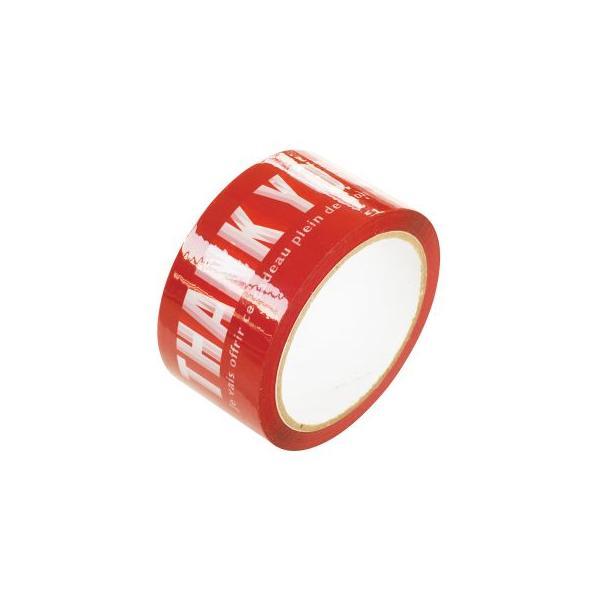 T-PL1 サンキューパッキングテープ-1(1巻)[包装資材バッグ袋]603 14/1416 子供会 景品 お祭り くじ引き 縁日