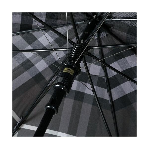 ★当店オススメ★【BURBERRY】バーバリー 日本製 カバー付きノバチェック 婦人長傘(雨傘) 暗グレー『16/7/2』070716(送料無料)|fflower11|06