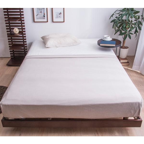 ベッド シングルベッド すのこベッド ベッドフレーム 天然木パイン無垢 高さ3段階 安い(A) fi-mint 02