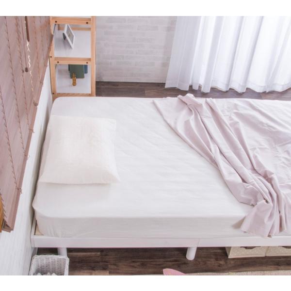 ベッド シングルベッド すのこベッド ベッドフレーム 天然木パイン無垢 高さ3段階 安い(A) fi-mint 03