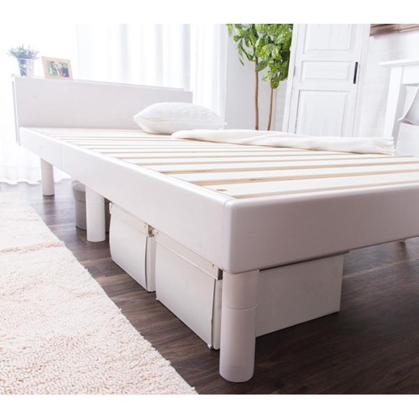 ベッド すのこベッド シングルベッド 2口コンセント付き 高さ3段階 天然木パイン無垢 安い(A)|fi-mint|20