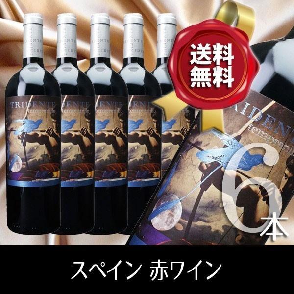 スペイン 赤ワイン トリデンテ テンプラニーリョ 6本セット|fiano-online