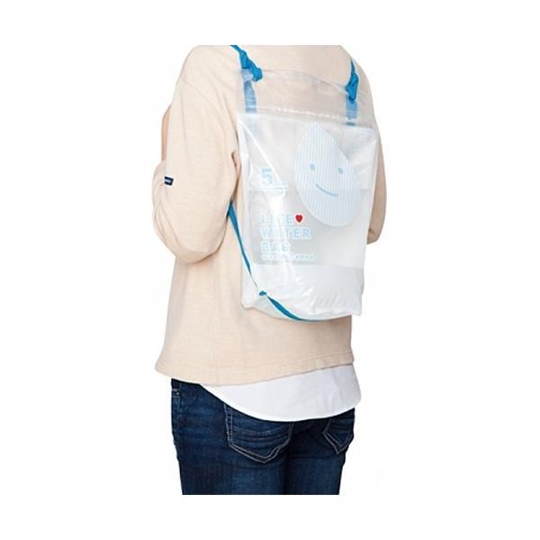 せおう水袋 ライフウォーターバッグ 5L×2枚入 防災ガイドブック付属  [災害 防災 緊急 避難 水 運ぶ リュック] ficst 04
