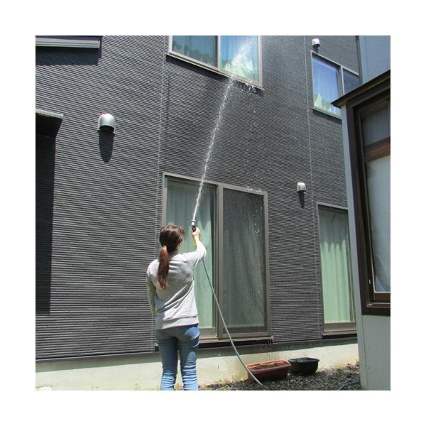 のびかるホース NH-15GY 7mから15mまで伸びます 8種類の水流切替[伸縮ホース ガーデニング 水道 園芸 清掃 散水 コンパクト 軽量]|ficst|05