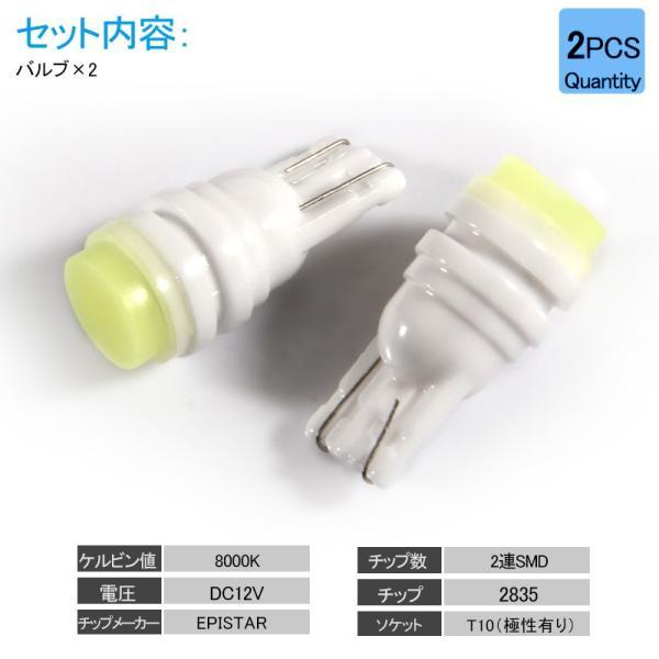 長寿命 高品質 T10/T15/T16 LEDバルブ 面発光 セラミック素材 2個 ポジションランプ 車幅灯 マップランプ ホワイト 2835チップ ウェッジ ナンバー灯|field-ag|02