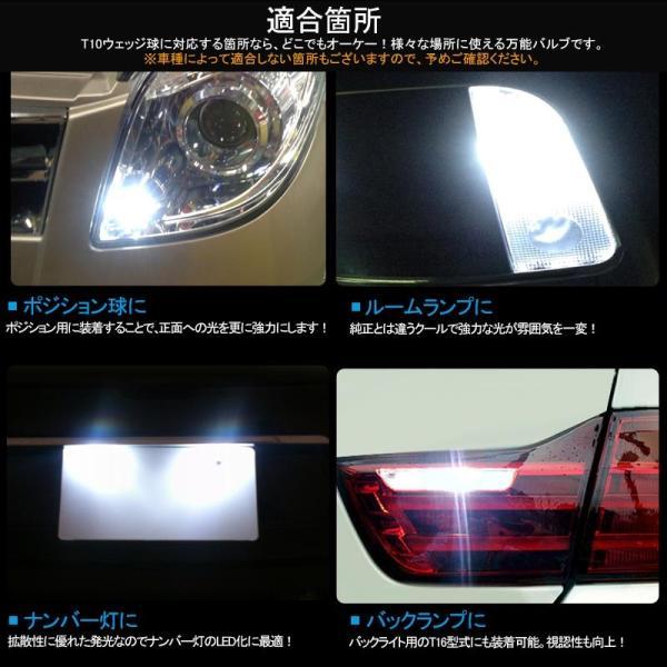 長寿命 高品質 T10/T15/T16 LEDバルブ 面発光 セラミック素材 2個 ポジションランプ 車幅灯 マップランプ ホワイト 2835チップ ウェッジ ナンバー灯|field-ag|09