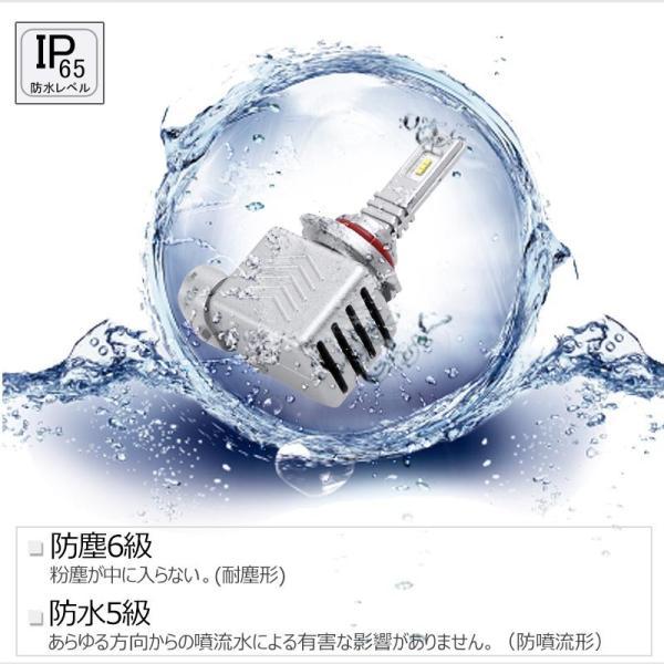 9S 9005 一年保証 コンパクト オールインワン LEDヘッドライト Philips ZES 高輝度 取付簡単 長寿命 8000LM 6500K 高速冷却フアン搭載 IP65防水|field-ag|13