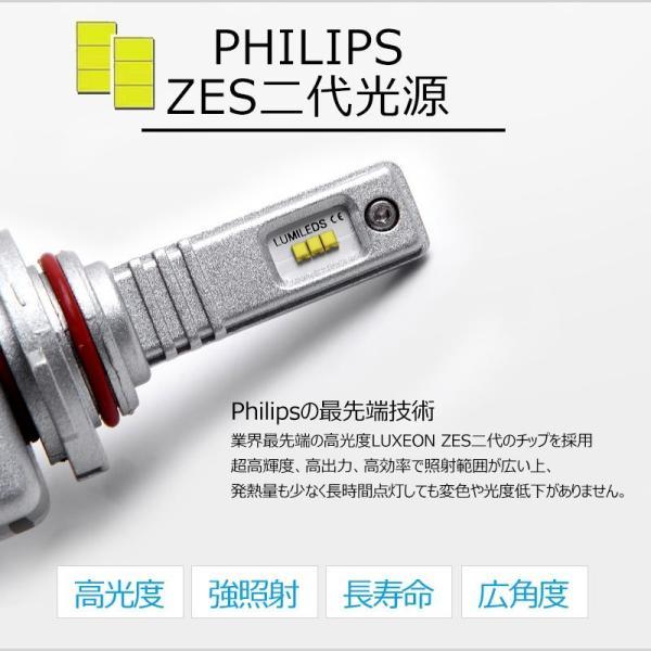 9S 9005 一年保証 コンパクト オールインワン LEDヘッドライト Philips ZES 高輝度 取付簡単 長寿命 8000LM 6500K 高速冷却フアン搭載 IP65防水|field-ag|03