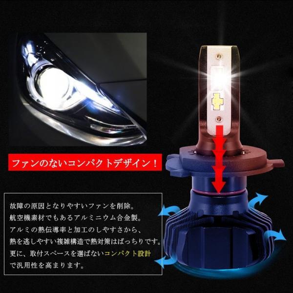 車検対応LEDヘッドライト H4 ファンレス 最新モデル 9000lm 6500K遮光板採用 IP65 ハイブリッド車対応 オールインワンタイプ|field-ag|07