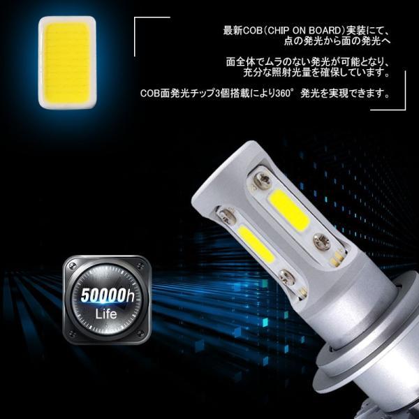 純白6500K 高品質LEDヘッドライト COB面発光タイプ 選択 H4 Hi/Lo切替 H7 H8 H11 HB3 HB4 9012 HIR2 12V対応 一体型 ワンタッチ取付|field-ag|04