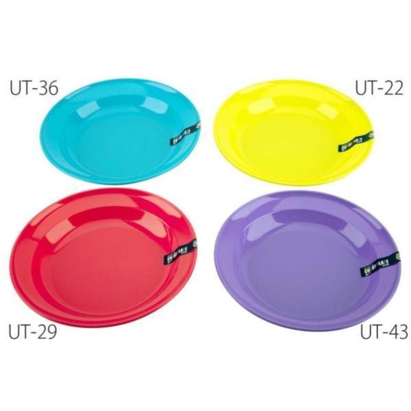 ホリデージョイ 抗菌 丸型カレー皿 22cm (ブルー) ( UT-0036 / CAG10251834 )( UT-36 )( キャプテンスタッグ )(CQB27)