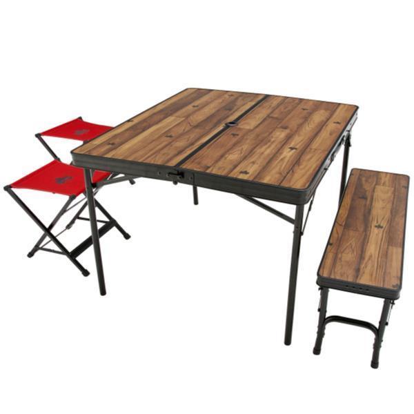 テーブル おしゃれ 椅子 セット テーブルセット 73188004 Tracksleeper ベンチandチェアテーブルセット4  (HN)(CQB27)