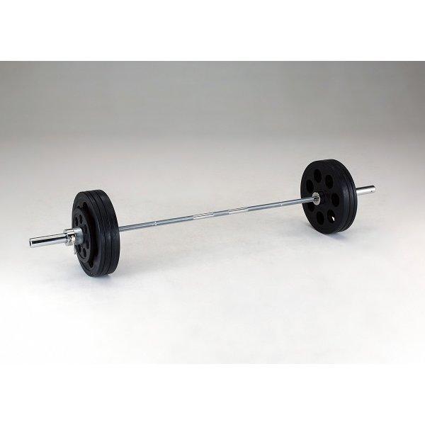 ダンベル ウエイト A220穴付ラバーバーベルセット 100kg D-5882 特殊送料(ランク:O-1) (DAN) (CQB27)