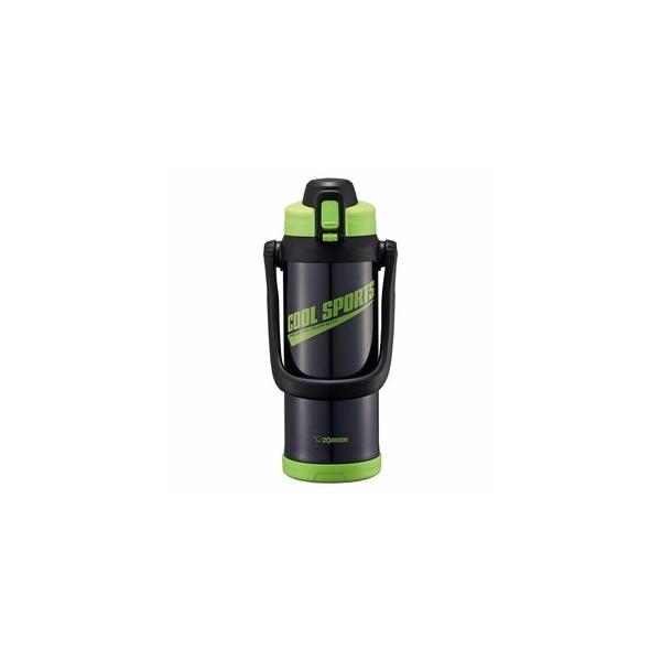 象印 ZOJIRUSHI 水筒 ステンレス クールボトル  2.0L  グリーンブラック  SD-BC20 BG  保冷専用 2L 広口約7cm 水筒子供  水筒2リットル